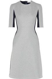 Richard Nicoll Illusion scuba-jersey and silk-blend jersey dress Mid-length sleeves