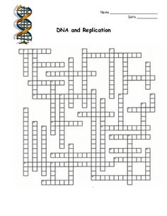 DNA, RNA, Protein Synthesis Crossword Puzzle. This is a