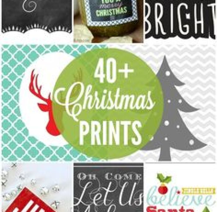 40+ Christmas Printables - FREE Christmas Printables to use for decor and gifts!! { lilluna.com }