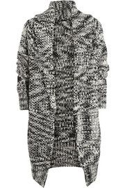 Maje Documentaire chunky-knit wool-blend cardigan