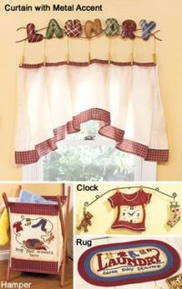 Mom on Pinterest | Laundry Room Curtains, Cafe Curtains ...