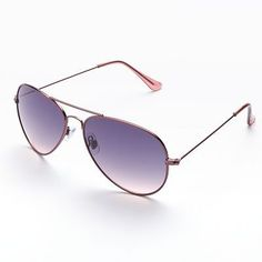 LC Lauren Conrad Point Loma Aviator Sunglasses , $16