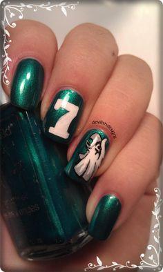 football themed nail art