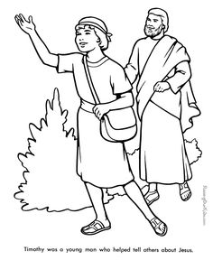 1 Timothy 4 12 Coloring Page Coloring Pages