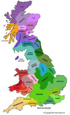 British Kingdoms 600 AD