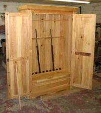 Woodwork Homemade Gun Cabinets Plans PDF Plans