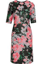ErdemIvy silk-blend jacquard dress Mid-length sleeve