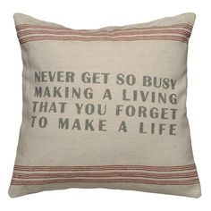 Inspirational Pillow.
