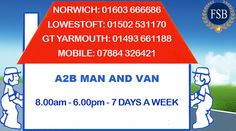 A2B Man and #Van #Suffolk-#Norwich-#Norfolk-#UK