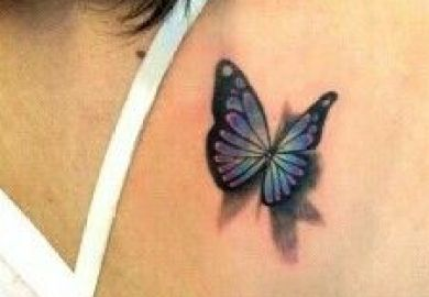 017 3d Monarch Butterfly Tattoo Love The Shadow Effect