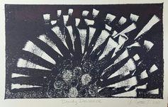 Dandy Deviance, 2015 Monoprint, 5 x 7 Yolanda Cotton Turner _______________________ #fineart #art #prints #printmaking #monoprints #ArteryPress #printmakingsermons #PaSS #workshops #classes #Oakland #CA