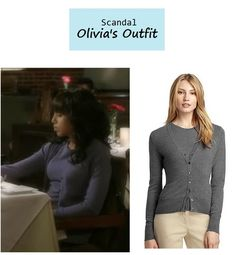 "On the blog: Olivia Pope's (Kerry Washington) cashmere twin set | ""Guess Who's Coming to Dinner"" (Ep. 302) #tvfashion #tvstyle #gladiators #falltv #fashion #outfits #fallfashion"