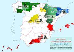 Mapa despliegue Unidades de Monataña de la Guardia Civil Rescate de la Guardia Civil de dos montañeros españoles en Marruecos