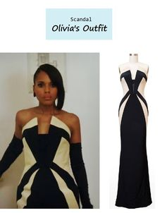 "On the blog: Olivia Pope's (Kerry Washington) Rubin Singer gown | Scandal - ""More Cattle, Less Bull"" (Ep. 305) #tvfashion #outfits #fashion #OliviaPopeStyle"