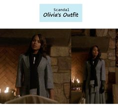 "On the blog: Olivia Pope's (Kerry Washington) houndstooth fit and flare coat & leather gloves | Scandal - ""Vermont is for Lovers, Too"" (Ep. 308) #tvstyle #tvfashion #outfits #fashion #gladiators"