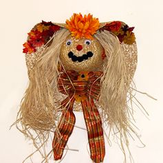 Scarecrow Wreath - Perfect for Fall, Halloween, or Thanksgiving!