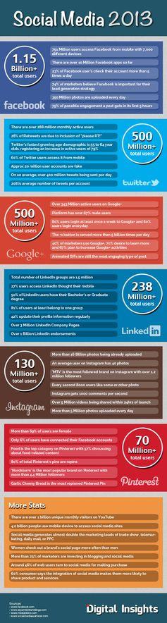 2013 sosyal medya istatistikleri