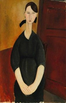 Modigliani's Portrait de Paulette Jourdain, from around 1919, sold for $42.8 million, beating its on-request estimate said to be $35 million.