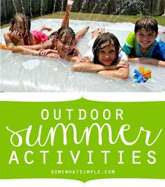 summer activities - perfect for that summer bbq you're planning!