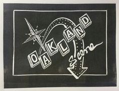 Oakland Scene, 2015 Linocut, 6