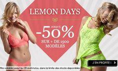 Lemon Days jusqu'à moins 50% sur plus de 1500 articles de lingeries  - http://www.bons-plans-malins.com/lemon-days-jusqua-moins-50-1500-articles-lingeries/ #Mode