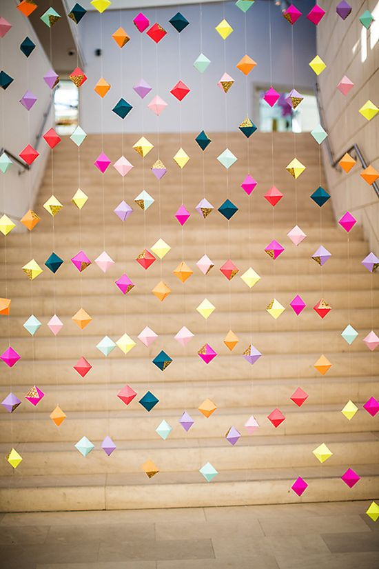 geometric party garland