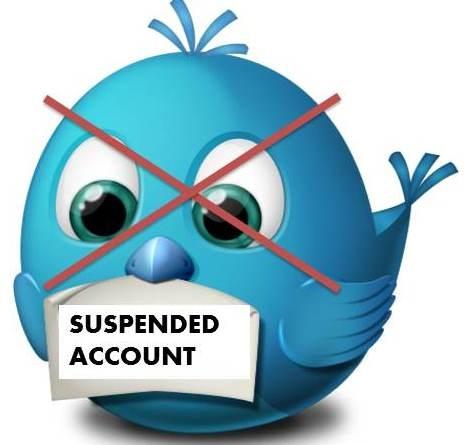 cuentas de Twitter suspendidas