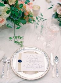 Best Romantic Weddings: pink tourmaline & rose cut blue