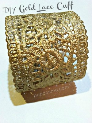 diy gold lace cuff tutorial - seriously? DIY? I'm going to have to try this.