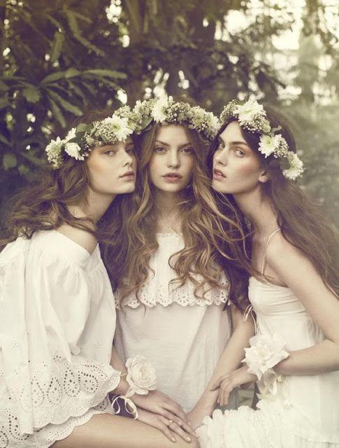 Coronas de Flores para el pelo.