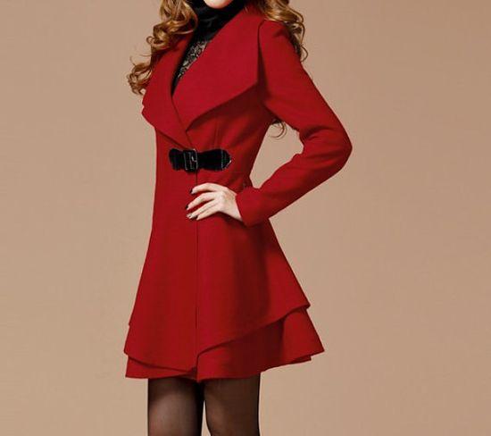 Red Long Coat Winter Coat