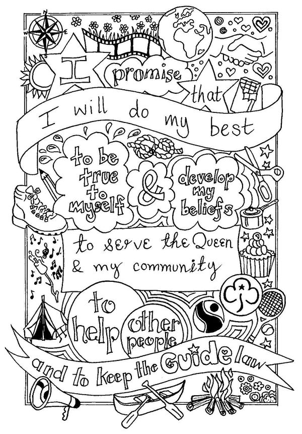 Girl scout promise image by Becky Richards on Bits & bobs
