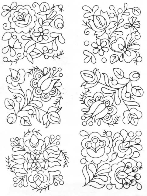 Vintage embroidery patterns, Vintage embroidery and