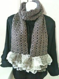 Crochet Scarf Patterns Using Sashay Yarn ~ Dancox for