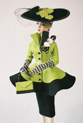 Gallery of Past Designs couture touch gene doll key lime delight suit hat bag