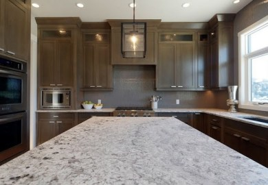 Kitchen Cabinets With Grey Stain