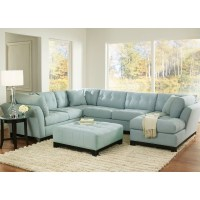 Light blue suede sectional | Think it, dream it, achieve ...
