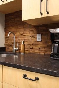 wood backsplash | For the Home | Pinterest