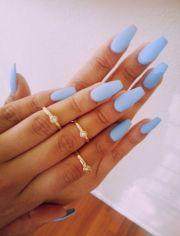 pale blue nails beautiful nail
