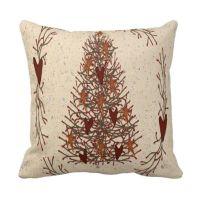 Primitive Christmas Tree Pillow
