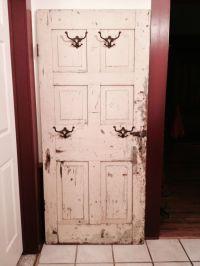 coat rack made from an old door. | Home Ideas | Pinterest