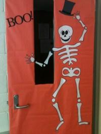 Halloween dancing skeleton   Classroom Door Decoration ...