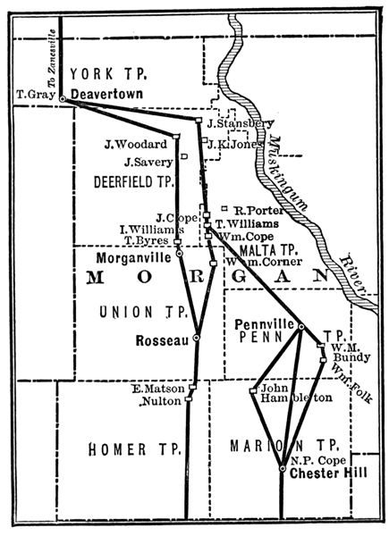 Underground Railroad Maps Indiana