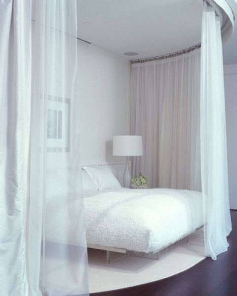 Decor Bedroom White Bed Curtains  Bedroom  Pinterest