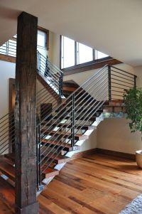 Modern Stair railings | for the home ideas | Pinterest