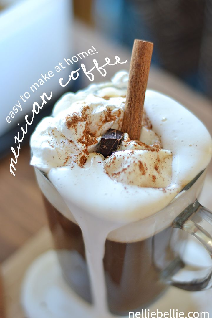 Mexican coffee is easy to make at home...and so delicious! Save yourself some cash and make it yourself!
