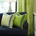 Navy blue kelly green living room cottage pinterest