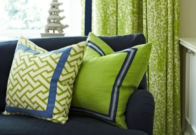 Green Purple Living Room
