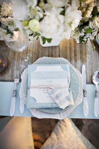Pale Blue and White Wedding Table | Table Setting | Pinterest