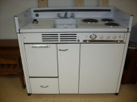 Vintage dwyer kitchen kitchenette stove refrigerator sink ...